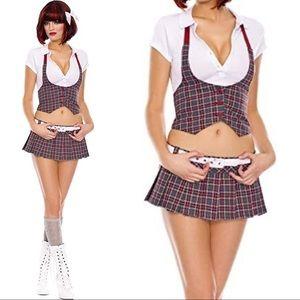 MusicLegs College Cutie costume plaid schoolgirl S